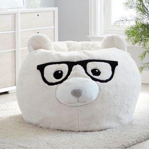 RARE PB Faux Fur Nerdy Dog Bean bag Chair Cover